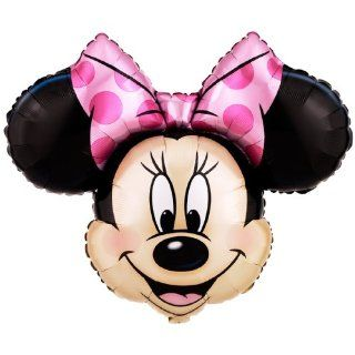 "Lets Party By Party Destination Disney Minnie Mouse Head 28"" Jumbo Foil Balloon Toys & Games"