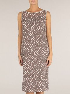 Jacques Vert Spot layered shift dress Brown