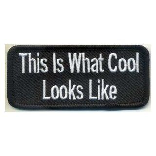 This Is What Cool Looks Like Funny Embroidered Fun MC CLub Biker Patch PAT 2665: Everything Else