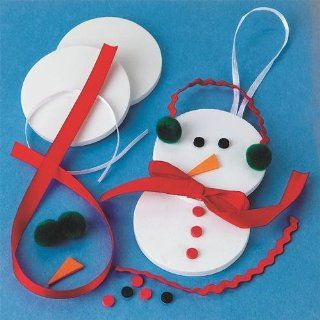 Snowman Ornament Craft Kit (Makes 12): Toys & Games
