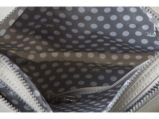 Kipling Alvar Shoulder/Cross Body Travel Bag Pearlized Grey