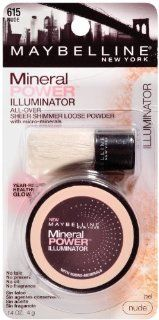Maybelline New York Mineral Power Illuminator, Nude 615, 0.14 Ounce : Face Powders : Beauty