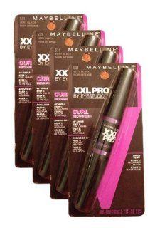 MAYBELLINE EyeStudio XXL Pro Curl Recourber Mascara   VERY BLACK #531 [Pack of 4] : Beauty