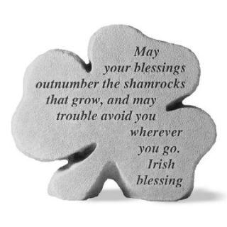 Irish Blessings Shamrock Garden Stone   Garden & Memorial Stones