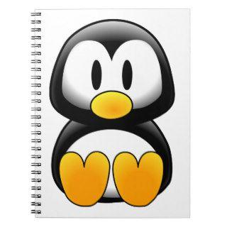 Pingüino lindo del dibujo animado del bebé libreta de