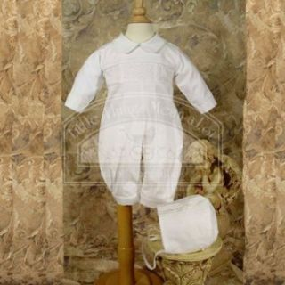 Baby Boys Cute White Smocked Christening Baptism Outfit Set 3 24M: Little Things Mean A Lot: Clothing