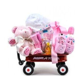 Baby Girl Radio Flyer Wagon Gift Basket : Baby