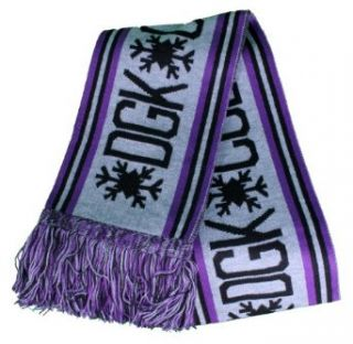 DGK Cold As Ice Scarf in Purple, Grey and Black at  Women�s Clothing store: Cold Weather Scarves