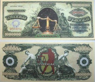 Set of 10 Bills Libra Million Dollar Bill: Toys & Games