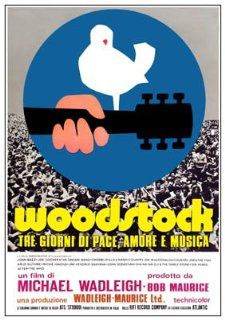 Woodstock Rock Festival Italian   Huge Film PAPER POSTER measures aproximately 100 x 70cm Greatest Films Collection Directed by Michael Wadleigh. Starring Joan Baez, The Who, Arlo Guthrie.   Prints