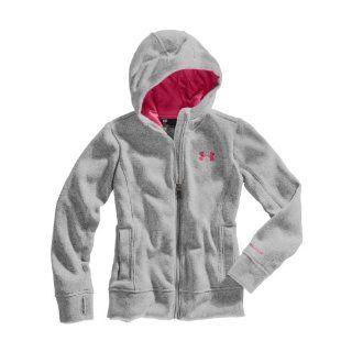 Under Armour Girls' UA Storm Rally Hoodie Jacket Medium True Gray Heather Sports & Outdoors