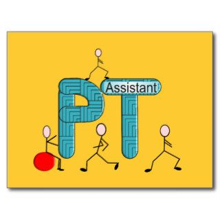 Physical Therapy Assistant Gifts Unique Graphics Post Card