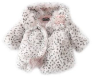 Kate Mack Baby Girls Newborn Belle Epoque Fur Coat, Pink, 0 3 Months: Clothing