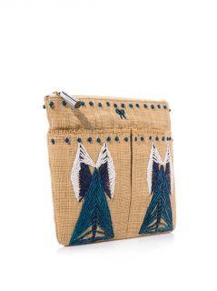 Nevis straw clutch  Anya Hindmarch