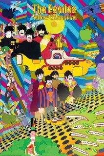 NMR 24541 Beatles Yellow Sub Decorative Poster   Prints