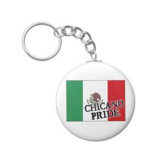 Chicano Pride Mexican Flag Key Chain