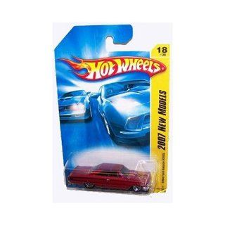 Mattel Hot Wheels 2007 First Edition New Models 164 Scale Cranberry Red 1964 Ford Galaxie 500XL Die Cast Car #18 #018 Toys & Games