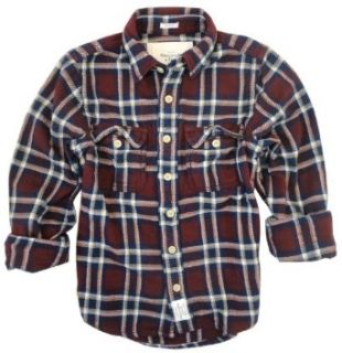 Abercrombie & Fitch Mens Timber Falls Plaid Flannel Shirt, Burgundy (Large) at  Men�s Clothing store Button Down Shirts