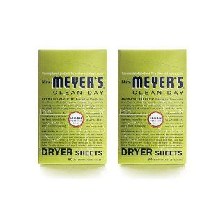 Mrs. Meyer's Lemon Verbena Dryer Sheets 80 Sheets (Pack of 12) : Laundry Fabric Softener : Grocery & Gourmet Food