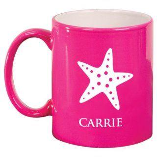 Simple Starfish Engraved Coffee Mug Kitchen & Dining