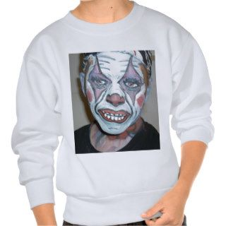 Sad Clowns Scary Clown Face Painting Pull Over Sweatshirt