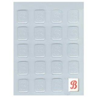 Letter B Initial Mint Candy Mold Kitchen & Dining