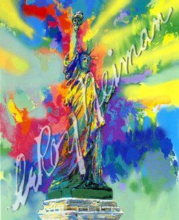 LeRoy Neiman   Statue of Liberty Hand Pulled Serigraph