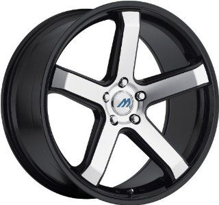 MACH   m5   19 Inch Rim x 9.5   (5x4.5) Offset (40) Wheel Finish   glossy black with machine face with glossy black lip: Automotive