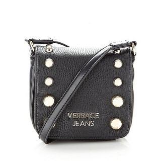 Versace Jeans Black studded mini cross body bag