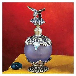 """Collectible Perfume Bottle  Elegant Pewter Blue Bird Design w/Frosted Glass ,3.5"""" H .Both Functional and Decorative for Your Home Living. Heavy Duty High End Perfume Bottle In The Market at Competitive Prices,Super Saving,"""