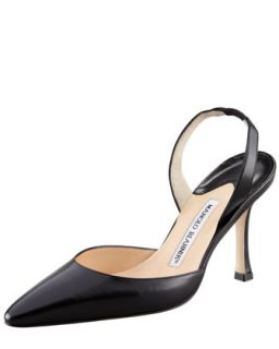 Kidskin High Heel Halter, Black   Manolo Blahnik   Black (39.5B/9.5B)