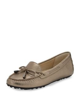 Daisy Metallic Loafer   MICHAEL Michael Kors   Nickle (40.0B/10.0B)