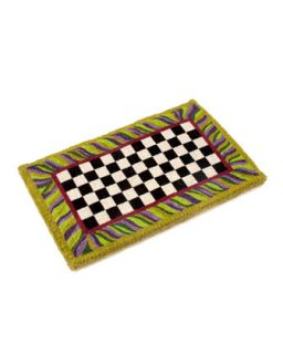 Courtly Check Entrance Mat   MacKenzie Childs