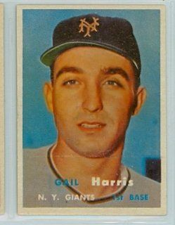 1957 Topps Baseball 281 Gail Harris Single Print Giants Near Mint Tough Series Single Print at 's Sports Collectibles Store