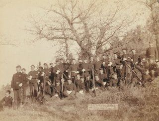 "Company ""C, "" 3rd U.S. Infantry near Fort Meade, So. Dak. Group of uniformed m d3"