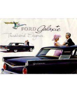 1959 Ford Galaxie Sales Brochure Literature Book Piece Advertisement Options Automotive