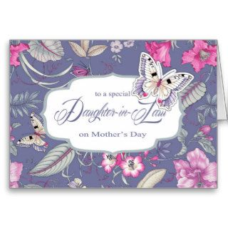 For Daughter in Law on Mother's Day Greeting Cards