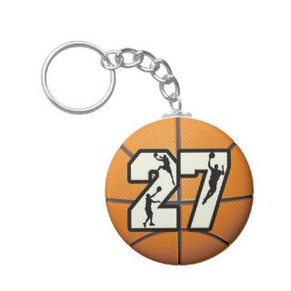 Number 27 Basketball Key Chains