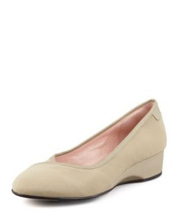 Felicity Stretch Fabric Envelope Wedge, Beige   Taryn Rose   Beige (36.5B/6.5B)