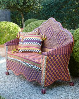 Sunset Outdoor Loveseat   MacKenzie Childs