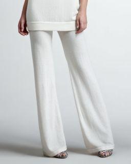 Womens Cashmere Lounge Pants, Vellum   Donna Karan   Vellum (SMALL)