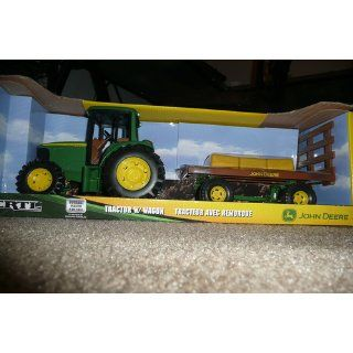 "Ertl John Deere 8"" Tractor with Flarebox Wagon Set: Toys & Games"