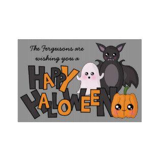 Happy Halloween Kawaii Bat, Ghost & Pumpkin Yard Sign