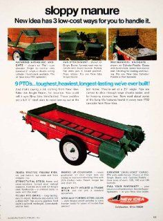 1969 Ad New Idea Farm Equipment Hydraulic Endgate Coldwater Ohio Farming Tool   Original Print Ad