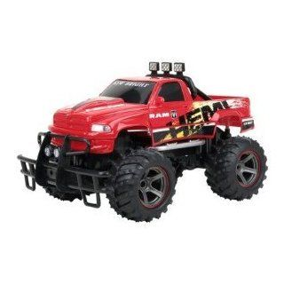 New Bright 1:14 R/C Dodge Ram Red Hemi Truck: Toys & Games