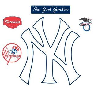 Fathead New York Yankees NY Logo Wall Decal  Sports Fan Wall Banners  Sports & Outdoors