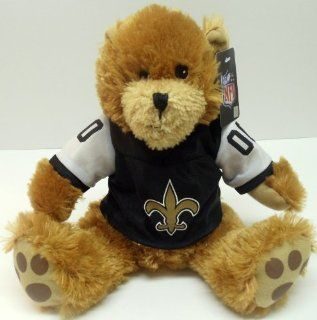 "NFL Football New Orleans Saints 9"" Plush Team Teddy Bear Wearing Saints Jersey: Toys & Games"