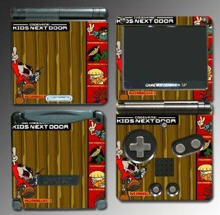 Codename Kids Next Door Cartoon Gift Teen Video Game Vinyl Decal Cover Skin Protector for Nintendo GBA SP Gameboy Advance Game Boy: Video Games