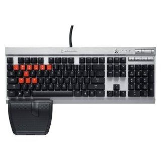 CORSAIR VALUE SELECT Corsair Vengeance K60 Keyboard. VENGEANCE K60 MECHANICAL KEYB CHERRY MX RED KEYS FOR FPS GAMERS. Cable   Black, Silver   USB 2.0   English   Multimedia, Stop, Previous Track, Next Track, Play/Pause, Mute, Volume Down, Volume Up Hot Key
