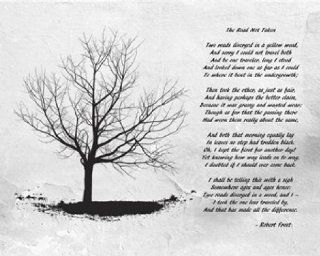Robert Frost The Road Not Taken Poster Print (20 x 16)